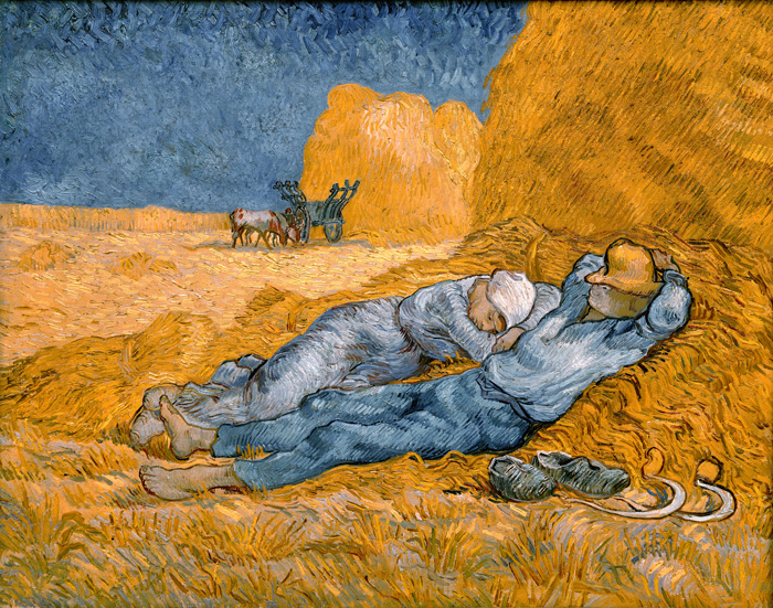 Noon: Rest from Work (after Millet), Vincent van Gogh, 1853-1890, oil on canvas, 73 x 91 cm